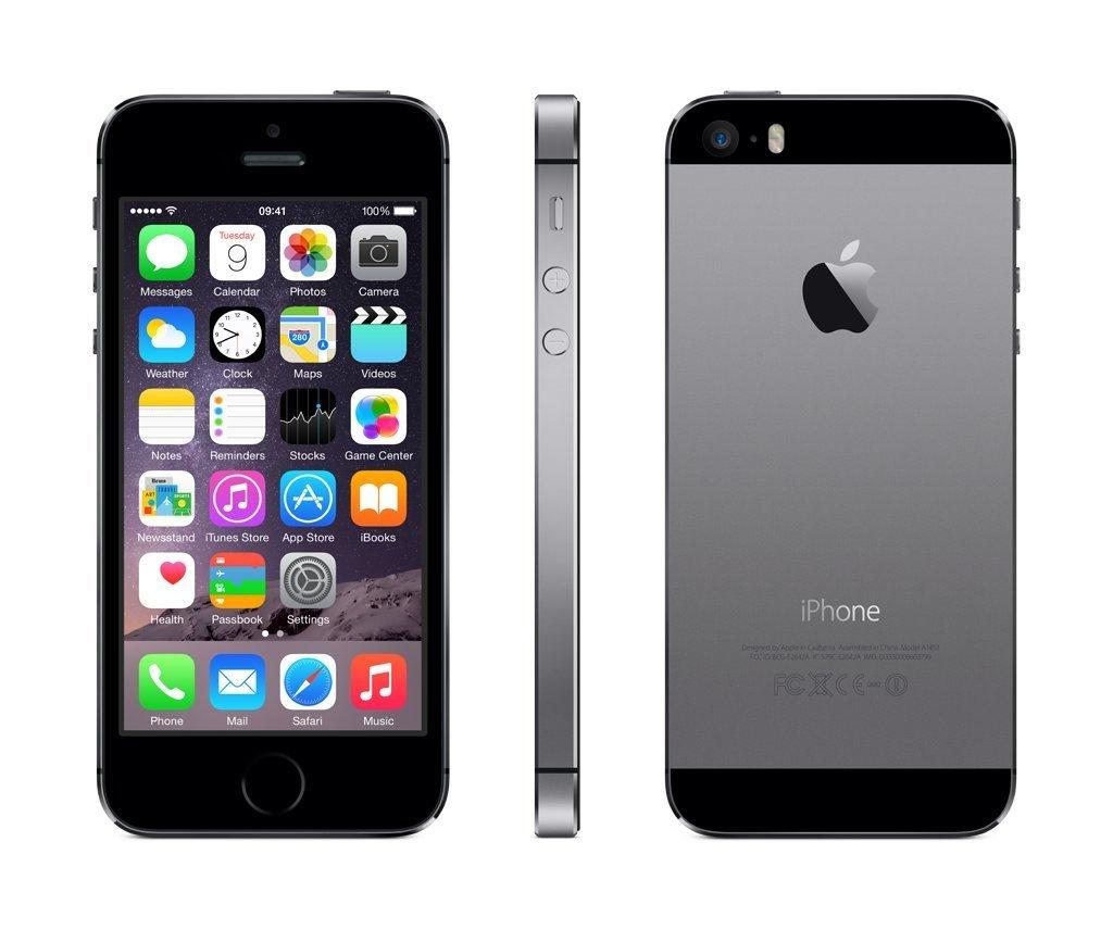 iPhone 5s, 16GB, Gray, Alder på produkt: 43 måneder